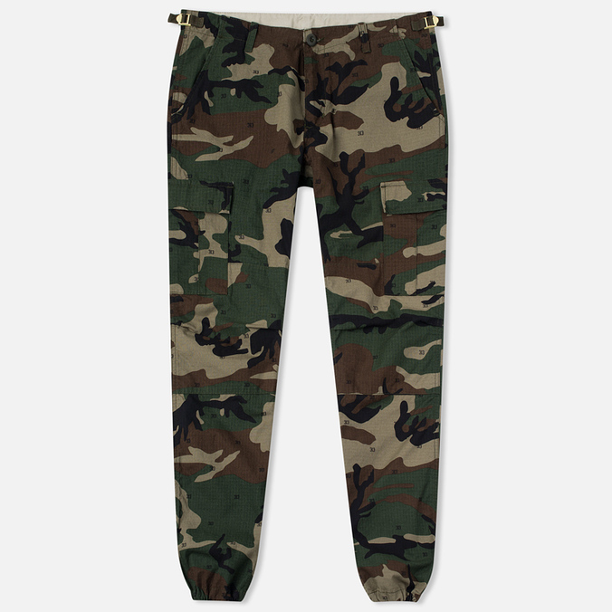 Мужские брюки Carhartt WIP Aviation Columbia Ripstop 6.5 Oz Camo 313 Green