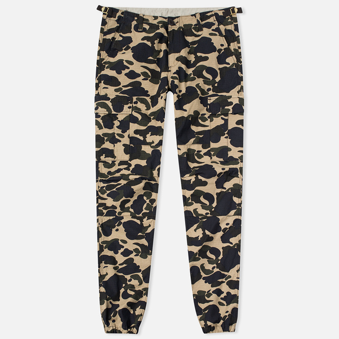 Мужские брюки Carhartt WIP Aviation Columbia Ripstop 6.5 Oz Camo Duck Rinsed