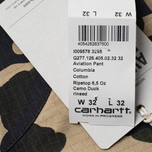 Мужские брюки Carhartt WIP Aviation Columbia Ripstop 6.5 Oz Camo Duck Rinsed фото- 6