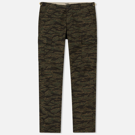 Мужские брюки Carhartt WIP Aviation Columbia Ripstop 6.5 Oz Camo Tiger Laurel Rinsed