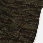 Мужские брюки Carhartt WIP Aviation Columbia Ripstop 6.5 Oz Camo Tiger Laurel Rinsed фото- 4