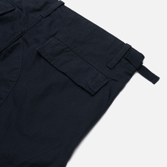 Мужские брюки Carhartt WIP Aviation Columbia Ripstop 6.5 Oz Dark Navy Rinsed