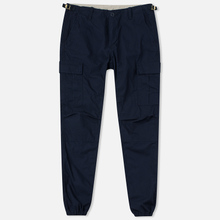 Мужские брюки Carhartt WIP Aviation Columbia Ripstop 6.5 Oz Dark Navy Rinsed фото- 0