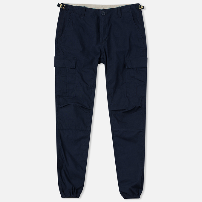 Carhartt WIP Aviation Columbia Ripstop Men`s Trousers 6.5 Oz Dark Navy Rinsed
