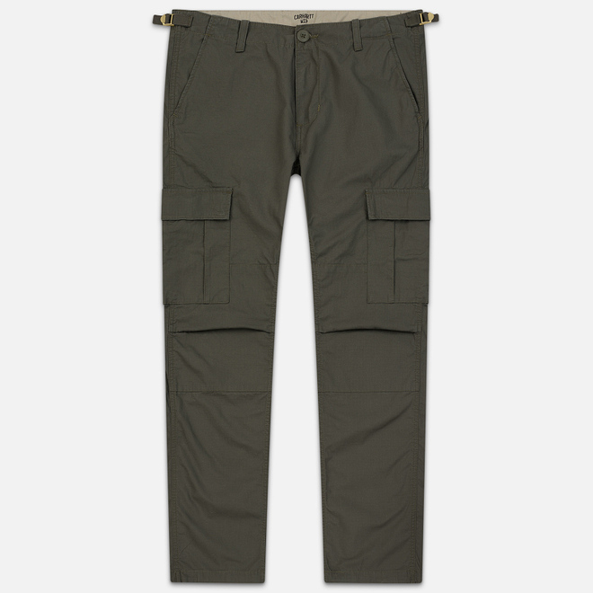 Мужские брюки Carhartt WIP Aviation Columbia Ripstop 6.5 Oz Moor Rinsed