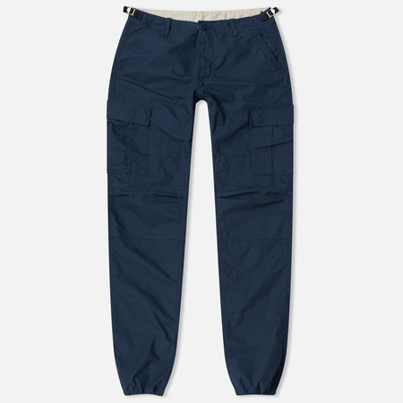 Мужские брюки Carhartt WIP Aviation Columbia Ripstop 6.5 Oz Navy Rinsed