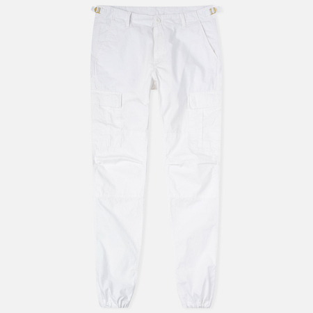 Мужские брюки Carhartt WIP Aviation Columbia Ripstop 6.5 Oz White Rinsed