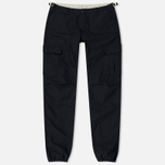 Мужские брюки Carhartt WIP Aviation Columbia Ripstop 6.5 Oz Black Rinsed фото- 0