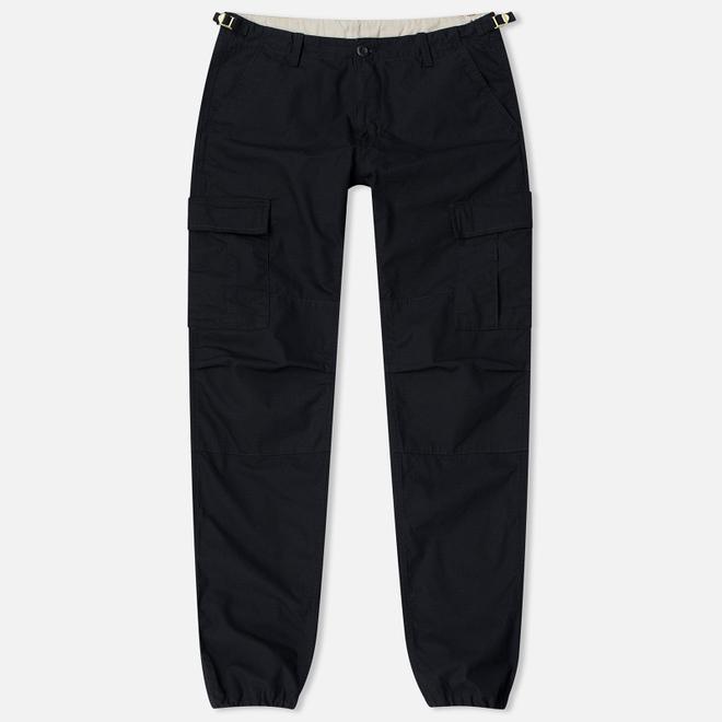 Мужские брюки Carhartt WIP Aviation Columbia Ripstop 6.5 Oz Black Rinsed