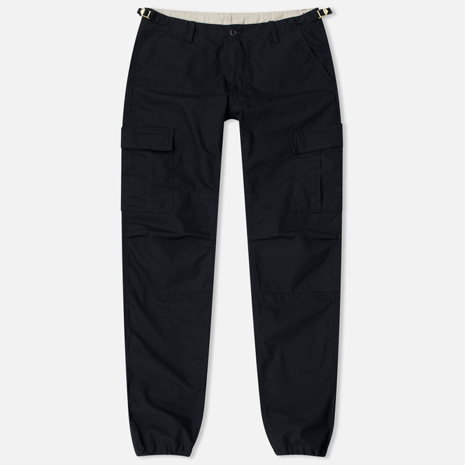 Мужские брюки Carhartt WIP Aviation Columbia Ripstop 6.5 Oz Black Rinsed
