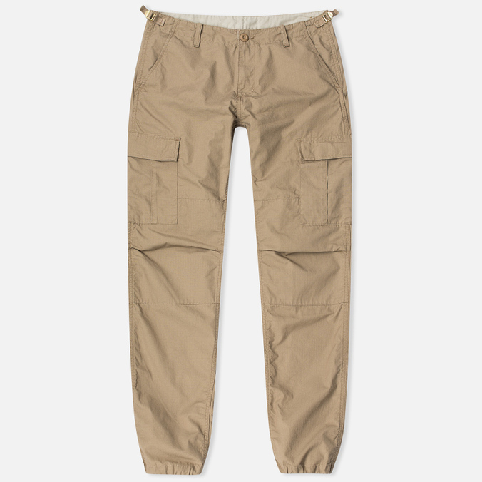 Мужские брюки Carhartt WIP Aviation Columbia Ripstop 6.5 Oz Leather Rinsed