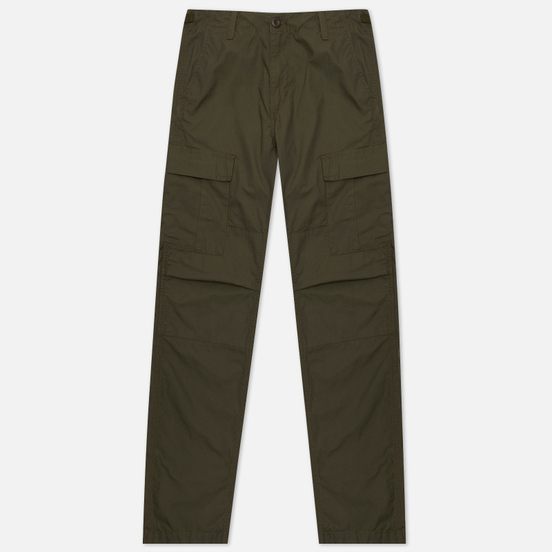 Мужские брюки Carhartt WIP Aviation Columbia Ripstop 6.5 Oz Cypress Rinsed