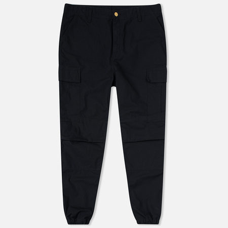 Carhartt WIP Cargo Columbia Ripstop 6.5 Oz Men's Trousers Black Rinsed
