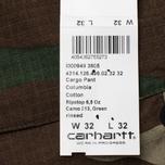 Мужские брюки Carhartt WIP Cargo Columbia Ripstop 6.5 Oz Camo 313 Green фото- 6