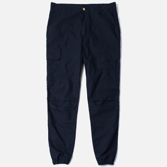 Carhartt WIP Cargo Columbia Ripstop 6.5 Oz Men`s Trousers Dark Navy Rinsed