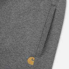 Мужские брюки Carhartt WIP Chase 13 Oz Dark Grey Heather/Gold фото- 1