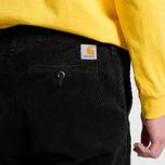 Мужские брюки Carhartt WIP Chino Club 9.7 Oz Black Rinsed фото- 7