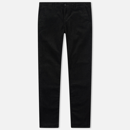Мужские брюки Carhartt WIP Chino Club 9.7 Oz Black Rinsed