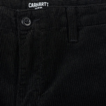 Мужские брюки Carhartt WIP Chino Club 9.7 Oz Black Rinsed фото- 2
