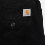 Мужские брюки Carhartt WIP Chino Club 9.7 Oz Black Rinsed фото- 4