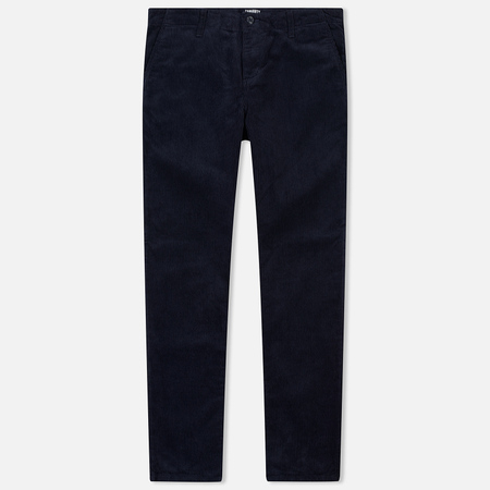 Мужские брюки Carhartt WIP Chino Club 9.7 Oz Dark Navy Rinsed