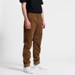 Мужские брюки Carhartt WIP Chino Club 9.7 Oz Hamilton Brown Rinsed фото- 6