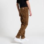 Мужские брюки Carhartt WIP Chino Club 9.7 Oz Hamilton Brown Rinsed фото- 7