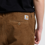 Мужские брюки Carhartt WIP Chino Club 9.7 Oz Hamilton Brown Rinsed фото- 8