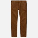 Мужские брюки Carhartt WIP Chino Club 9.7 Oz Hamilton Brown Rinsed фото- 0