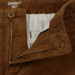 Мужские брюки Carhartt WIP Chino Club 9.7 Oz Hamilton Brown Rinsed фото- 2