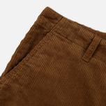 Мужские брюки Carhartt WIP Chino Club 9.7 Oz Hamilton Brown Rinsed фото- 3