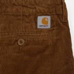 Мужские брюки Carhartt WIP Chino Club 9.7 Oz Hamilton Brown Rinsed фото- 4