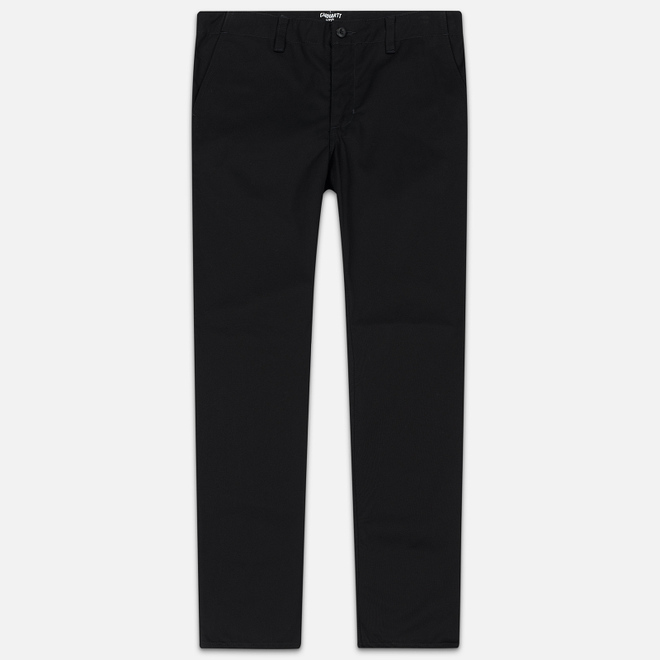 Мужские брюки Carhartt WIP Club 9 Oz Black Rigid
