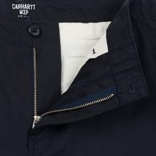 Мужские брюки Carhartt WIP Club 9 Oz Dark Navy Rigid фото- 2