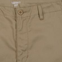 Мужские брюки Carhartt WIP Club 9 Oz Leather Rigid фото- 1