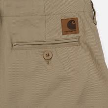Мужские брюки Carhartt WIP Club 9 Oz Leather Rigid фото- 4