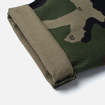 Мужские брюки Carhartt WIP Club Cotton Questa Twill 9 Oz Camo 313 Green Rinsed фото- 5