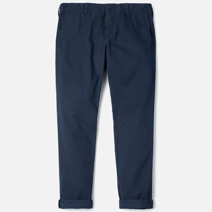 Carhartt WIP Club Cotton Questa Twill 9 Oz Duke Men`s Trousers Blue Rinsed