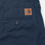 Carhartt WIP Club Cotton Questa Twill 9 Oz Duke Men`s Trousers Blue Rinsed photo- 3