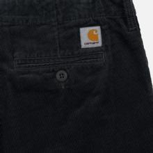 Мужские брюки Carhartt WIP Club Wales 9.4 Oz Blacksmith Rinsed фото- 1