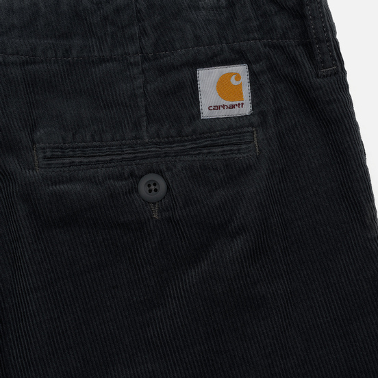 Мужские брюки Carhartt WIP Club Wales 9.4 Oz Blacksmith Rinsed