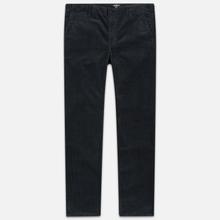 Мужские брюки Carhartt WIP Club Wales 9.4 Oz Blacksmith Rinsed фото- 0