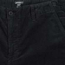 Мужские брюки Carhartt WIP Club Wales 9.4 Oz Blacksmith Rinsed фото- 2