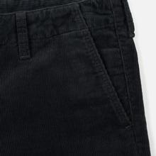 Мужские брюки Carhartt WIP Club Wales 9.4 Oz Blacksmith Rinsed фото- 3
