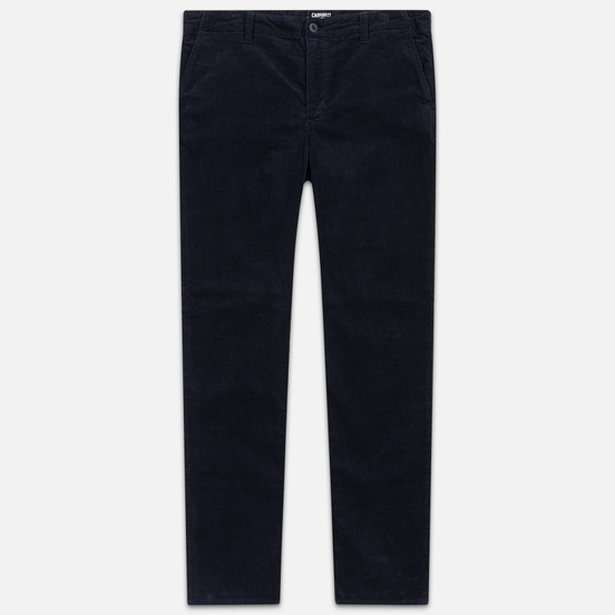 Мужские брюки Carhartt WIP Club Wales 9.4 Oz Dark Navy Rinsed