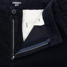Мужские брюки Carhartt WIP Club Wales 9.4 Oz Dark Navy Rinsed фото- 3