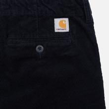 Мужские брюки Carhartt WIP Club Wales 9.4 Oz Dark Navy Rinsed фото- 5