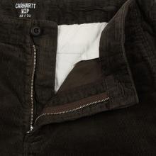 Мужские брюки Carhartt WIP Club Wales 9.4 Oz Tobacco Rinsed фото- 3
