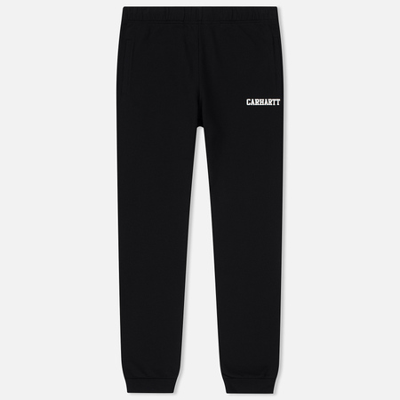 Мужские брюки Carhartt WIP College 9.4 Oz Black/White
