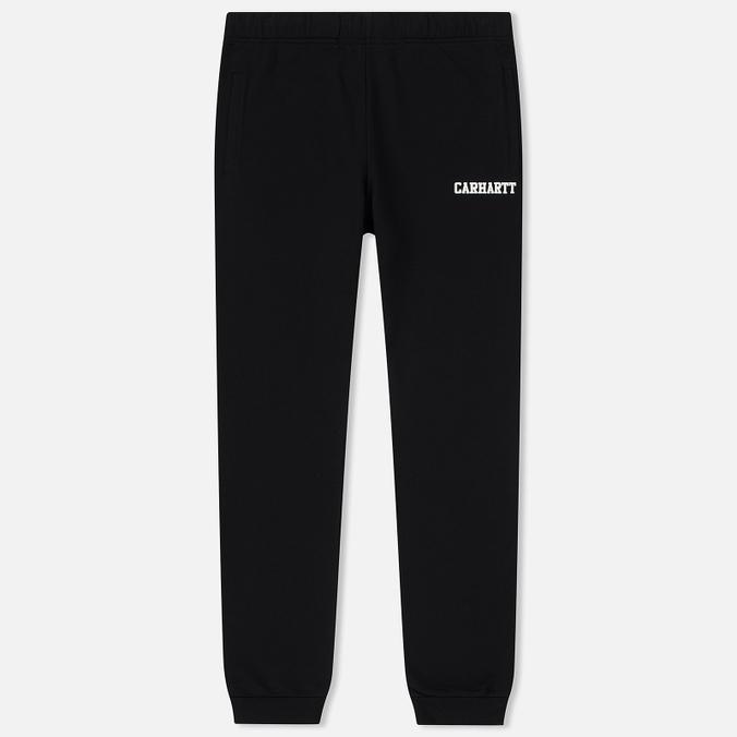 Мужские брюки Carhartt WIP College 9.4 Oz Black/White